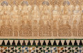 Arabic art masterpiece. Tiled wall. Alhambra Stock Photography