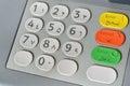 Arabic ATM keyboard Royalty Free Stock Photo