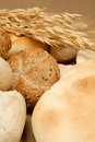 Arabic bread and cerea Royalty Free Stock Images