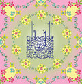 Arabic calligraphy - Aya of Holy Koran Stock Images