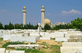 Arabic cemetery and mausoleum of habib burguiba monastir tunisia Royalty Free Stock Photography