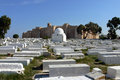 Arabic cemetery next to ribat in monastir tunisia Royalty Free Stock Photography