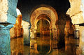 Arabic cistern underground water tank caceres extremadura spain for collecting rainwater medieval city Royalty Free Stock Image