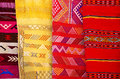 Arabic colorful blanket a background Royalty Free Stock Photography