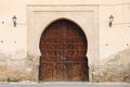 Arabic door oriental styled in meknes morocco Stock Photography