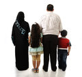 Arabic family four members isolated Royalty Free Stock Photo