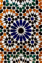 Arabic floral marble mosaic tile texture Royalty Free Stock Photo