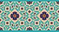 Arabic Floral Seamless Border. Traditional Islamic Design.