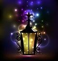 Arabic forging lantern for Ramadan Kareem Royalty Free Stock Photo