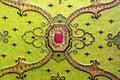Arabic green ornament Royalty Free Stock Photo