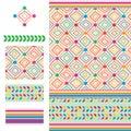 Arabic idea six star coloful modern seamless pattern Royalty Free Stock Photo