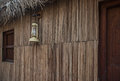 Arabic lamp hanging on old house Royalty Free Stock Photo