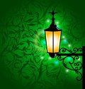 Arabic lamp with lights, card for Ramadan Kareem Stock Images