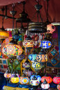 Arabic lamps and lanterns in market Royalty Free Stock Photo