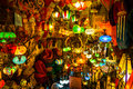 Arabic lamps and lanterns in the Marrakesh,Morocco Royalty Free Stock Photo