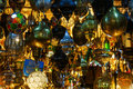 Arabic lamps in the souks of Marrakesh Royalty Free Stock Photo