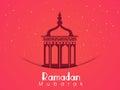 Arabic lantern for Holy month Ramadan Kareem celebration.
