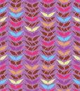 Arabic leaf wave vertical seamless pattern