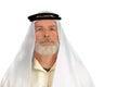 Arabic man bearded in head dress Stock Image