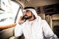 Arabic man in his car Royalty Free Stock Photo