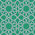 Arabic mosaic green byzantine seamless pattern vector illustration Royalty Free Stock Images