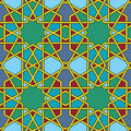 Arabic mosaic multicolored byzantine seamless pattern vector illustration Royalty Free Stock Photos