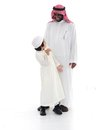 Arabic Muslim father and son Royalty Free Stock Images
