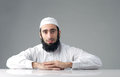 Arabic muslim man with a bushy beard Stock Images