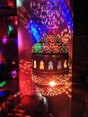 Arabic nightlife in a club with thousands of colorful lights Stock Photo