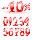 Arabic numerals design Royalty Free Stock Photo