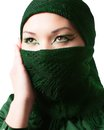 Arabic Oriental makeup,portrait of asian kazakh woman with professional make-up Royalty Free Stock Photo