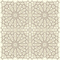 Arabic ornament background with a seamless pattern in arabian style Royalty Free Stock Photos