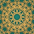 Arabic ornament seamless pattern. Geometrical girish tracery. Muslim mosaic to ramadan careem holiday.