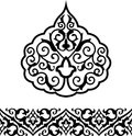 Arabic ornament vector illustration of decoration elements for design Stock Photos