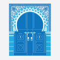 Arabic ornament vector illustration of a door in arabian style Royalty Free Stock Images