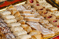 Arabic pastry tasty in a medieva market Stock Photos