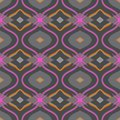 Arabic pattern in grey and pink ethnic vibrant color with turkish moroccan motifs seamless vector background for web print spring Stock Photos