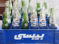 Arabic Pepsi Bottles Royalty Free Stock Images