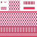 Arabic rectangle star red pink seamless pattern