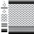 Arabic six star black modern seamless pattern