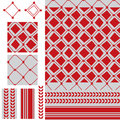 Arabic six star red modern seamless pattern Royalty Free Stock Photo
