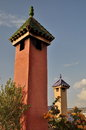 Arabic style chimney in morocco Stock Photography