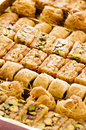Arabic sweets as closeup in a box Royalty Free Stock Images