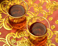 Arabic tea close up of cups Stock Images