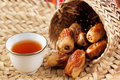 Arabic tea and dates symbolise Arabian hospitality Royalty Free Stock Photo