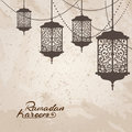 Arabic traditional lantern and garland