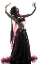 Arabic woman belly dancer dancing Stock Photos