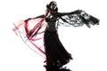 Arabic woman belly dancer dancing Royalty Free Stock Photo