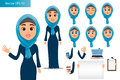 Arabic woman constructor set.