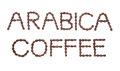 Arabica Coffee Sign Royalty Free Stock Image